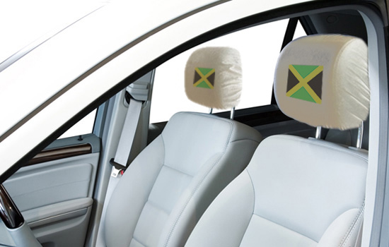 Jamaica Flag Headrest Covers